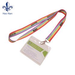 Supporto di scheda di plastica di identificazione della sagola dura trasparente del PVC del banco