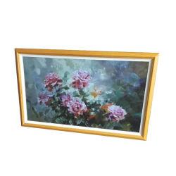 Moldura fotográfica digital de madeira de 32 polegadas e álbum de fotografias electrónico Para exposição de Arte e decoração de interiores