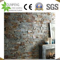 Piedra piedra apilada China natural del panel de revestimiento de pared de pizarra de chapa