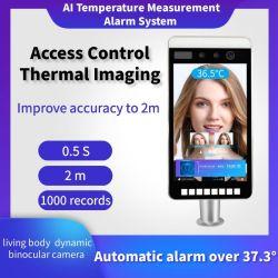 La reconnaissance de visage Système d'alarme de mesure de température