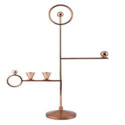 Eenvoudige modelkamer Dineren tafel Decoratie metalen Candlestick