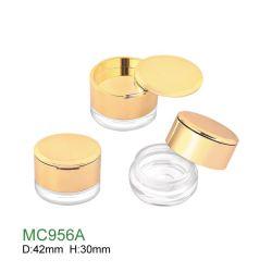Trucco personalizzato commercio all'ingrosso che impacca intorno alla cassa cosmetica del vaso allentato vuoto di plastica della polvere