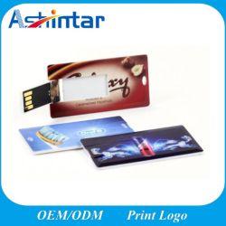 بطاقة ائتمان ذاكرة USB بلاستيكية 16 جيجابايت 32 جيجابايت 64 محرك أقراص USB صغير سعة جيجابايت