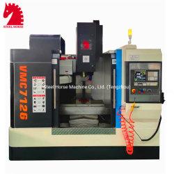 3 de 4 ejes de precisión pequeñas Universal de metal pesado Mini Vmc Banco Central de perforación CNC fresadora vertical