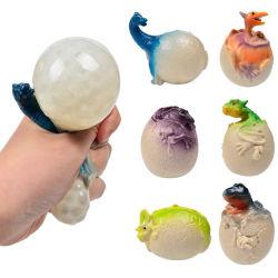 爆発性のスクイーズベントボールカラフルビーズ恐竜の卵恐竜の赤ちゃん ピンチ音楽の圧搾の伸張の出口のおもちゃ
