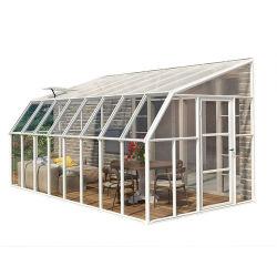 El solarium junto a la pequeña casa prefabricada de Sun Solarium solarium terraza prefabricados Sala de Cristal Sala Sol portátil de aluminio