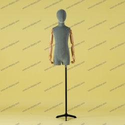 Mannequin del torso dei bambini del modulo del vestito dai capretti del coperchio della pelle scamosciata di alta qualità per la visualizzazione del negozio