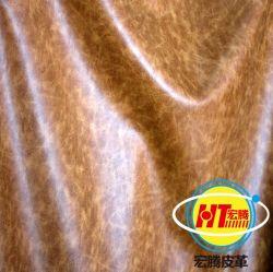 Öl wächsernes Microfiber Leder für Sofa-Polsterung (1605#)
