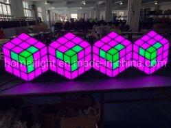 Achtergrond van de Disco van het Stadium KTV DJ van de acryl LEIDENE 3D Magische Muur van de Kubus