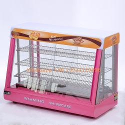 De nouveaux aliments de bonne qualité d'affichage de réchauffement vitrine sur la vente /de la nourriture chaude plus chaude vitrine de biscuit