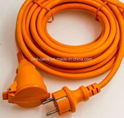IP44 Европейского водонепроницаемый удлинительный шнур с пружиной затвор GS NF красного цвета