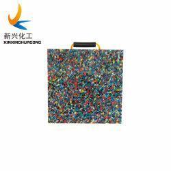 Multi-Color reciclado UHMWPE Grúa/toma pastillas Outrigger Pad/soporte de pie pulsador/Cribbing Pad