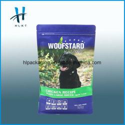 Haut de la qualité plastique stratifié à fermeture à glissière Stand up sac de nourriture pour animaux domestiques