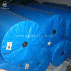Tarp. Impermeabile impermeabile per impieghi pesanti con rivestimento in PE laminato blu