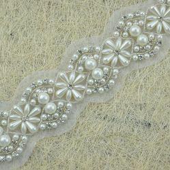 Commerce de gros Rhinestone perlé Garniture de mariée