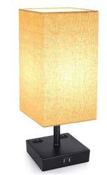 Dreiwegenoten-SteuerDimmable LED Schreibtisch-Lampe mit 2 USB-aufladenkanälen