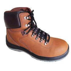 Alta qualidade de couro Nubuck Calçado de segurança/calçado/sapatos de trabalho de aço com tampa de fecho