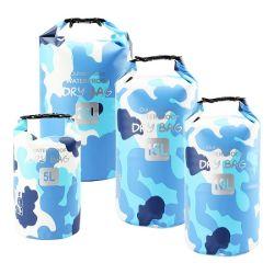 Fábrica de Direct 5L/10L/15L/20L Premium 500d tipo tambor de PVC impermeable bolsa seca, de la playa para practicar kayak, rafting, canotaje, caminatas, pesca y camping