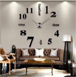 Toutes les tailles de style moderne simple Parrern différentes horloges créative DIY acrylique Stick Clock 3D Affiches murales vivant le décor des chambres de l'artisanat Horloge murale