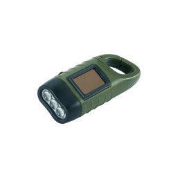 Manivelle de la solaire portable Lampe torche à LED lampe de poche d'urgence de Camping