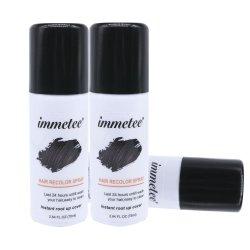 Instant La couleur des cheveux couleur noir de pulvérisation