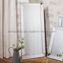 실버 트리플 버벨드 베네치아 벽 거울 / 층 스탠딩 프레임 거울
