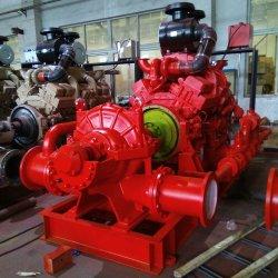 ディーゼル機関の消火活動ポンプCummins 120kw 163HPの消火活動型二重吸引ポンプ100L/S 1600usgpm