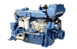 240kw/1500rpm水冷却シリンダーWeichai 6つのWd12シリーズ海洋のディーゼル機関(WD12C327-15)