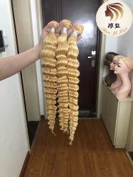 Best Selling 613 Cor Virgem Brasileira profundamente humana a ondulação da onda a extensão do cabelo da trama, no emaranhado sem derramamento 613 Onda profunda PACOTE DE CABELO