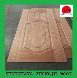 Molde de la piel de la puerta de la placa de MDF con la melamina, Chapa de madera o