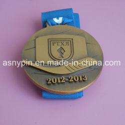カスタムダイカストのホッケーのスポーツ賞の記念品メダル金属を