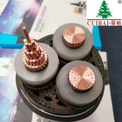 Kerne 26/35kv drei Gleichstrom-Wechselstrom wasserdichtes HOCHSPANNUNGSXLPE isolierte Kurbelgehäuse-Belüftung umhülltes Copper/Cu Bildschirm-Drahtseil
