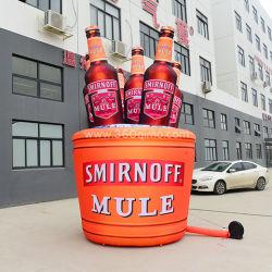 Gruppo gonfiabile della bottiglia da birra di stampa completa per l'introduzione sul mercato di marca