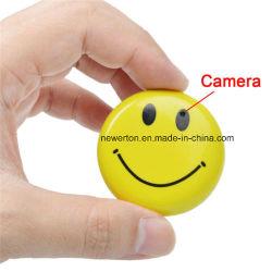 Magnetoscopio della mini DV HD del fronte di sorriso del CCTV del distintivo camma della videocamera di sicurezza DVR