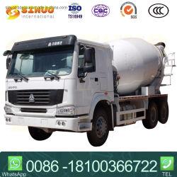 HOWO에 의하여 이용되는 중 콘크리트 믹서 Sinotruk 디젤 엔진 4-15cbm 부피 측정 유형 트럭 무거운 시멘트 믹서 트럭