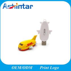 طائرة USB Flash البلاستيكية سعة ذاكرة USB قلادة مخصصةUSB Stick