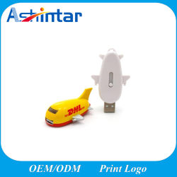 Plastik-USB-Speicher-Blitz-Flugzeug USBPendrive Customed USB-Stock