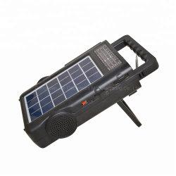 Nouvel ordinateur portable à énergie solaire Radio AM FM multifonction avec USB/TF Bt haut-parleur sans fil
