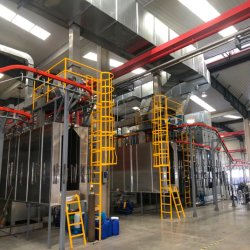 Linea di produzione automatica dello spruzzo della vernice del rivestimento polvere/del liquido per l'accessorio dell'automobile
