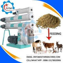 1-20T/H en acier inoxydable de l'élevage de poulet Bovins Porcs Volaille Poisson feed Pellet Making Machine