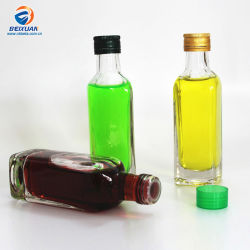 Carré de la sauce d'huile d'olive sauce chili 100ml en verre avec bouchon de bouteille d'huile