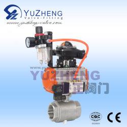 2PC Válvula de bola con rosca hembra de los componentes neumáticos