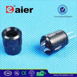 La base de LED de plástico negro (PLH-8K)