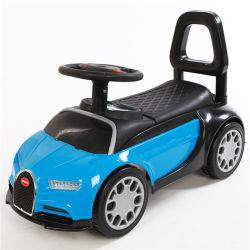 Giro variopinto dei capretti di prezzi poco costosi sull'automobile dell'oscillazione dell'automobile del giocattolo con la barra di spinta