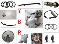 Yamaha Ybr125 엔진 부품, 오토바이 마찰 플레이트 클러치 전기 시동 시동 메커니즘