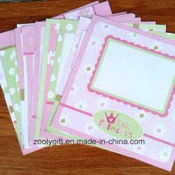 Papier-Satz der Baby-rosafarbener Muster-Auslegung-12 X12-Scrapbooking