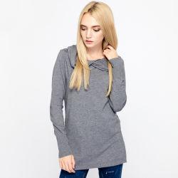Novo design da longa camisolas com capuz para pequenos grossistas suéter pulôver.
