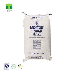 Conception personnalisée de l'impression de papier kraft blanc multicouches de papier kraft sacs de sel sucre Blé de l'emballage/Sac 25 kg