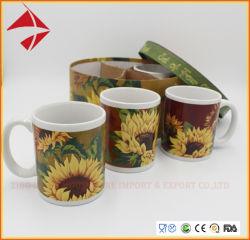 4PCS ملصق ملون، كوب قهوة الشاي، مجموعة الاستخدام اليومي كوب خزفي/كوب خزفي