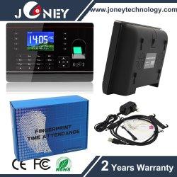 Novo Relógio de Tempo de presença de Impressão Digital Biométrico + ID + Leitor de cartão USB + TCP/IP